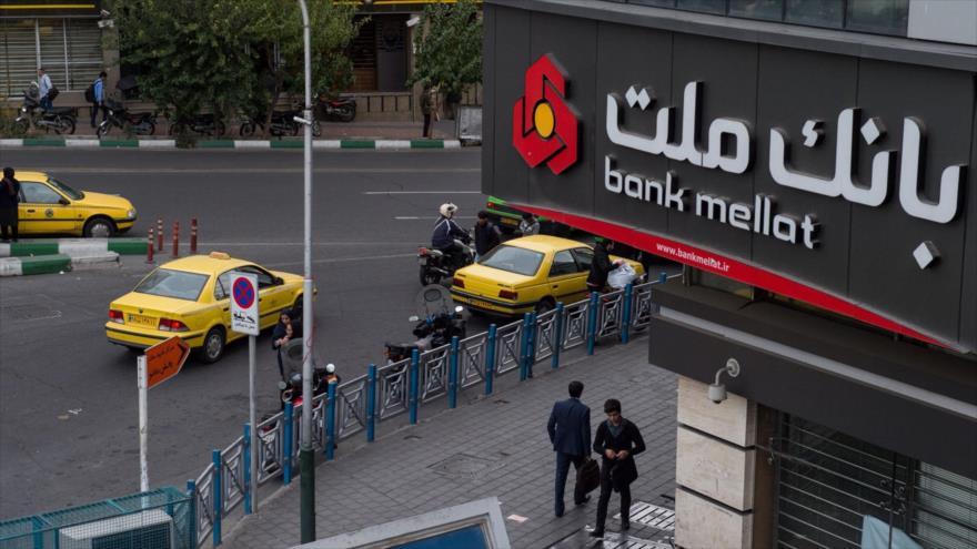 Un sucursal del Banco Mellat de Irán.