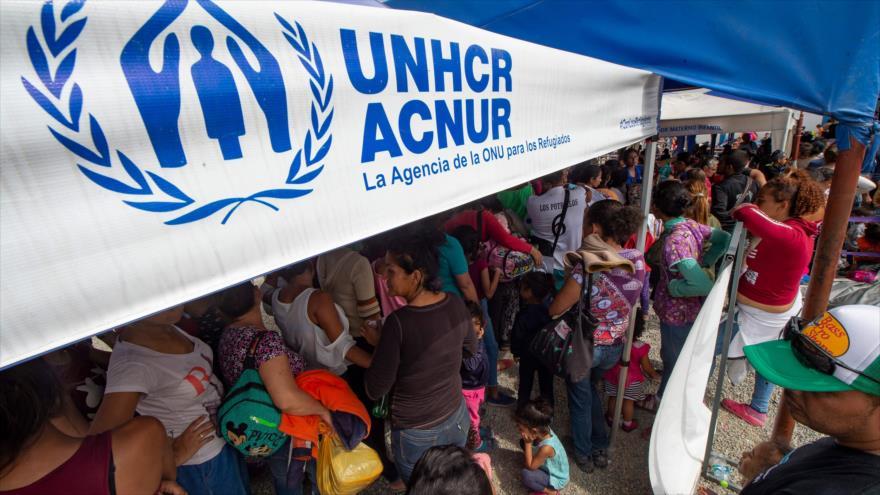 Los migrantes venezolanos desplazados en un campo de la ACNUR en la ciudad Tumbes en Perú, 14 de junio de 2019. (Foto: AFP)