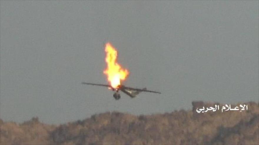 Una aeronave no tripulada (dron) de reconocimiento de Arabia Saudí derribada por fuerzas yemeníes.