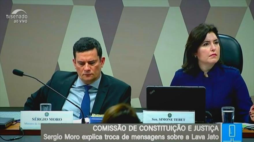 Sergio Moro comparece ante el Senado de Brasil