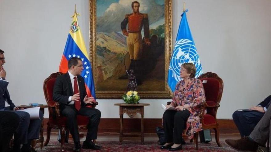Bachelet evalúa en Venezuela consecuencias de bloqueo de EEUU   HISPANTV