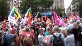 Pensionistas franceses rechazan políticas de Macron