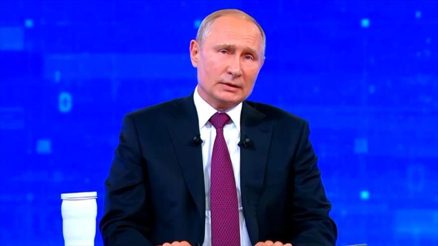 Putin condena sanciones de EEUU en contacto con ciudadanos rusos | HISPANTV