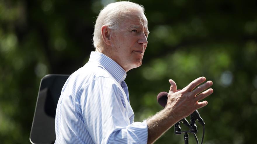 El exvicepresidente de Estados Unidos, Joe Biden, en un acto electoral en Filadelfia, Pensilvania, 18 de mayo de 2019. (Foto: AFP)