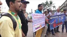 Activistas colombianos se concentran en apoyo a Cuba