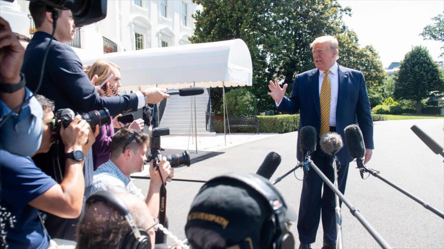 El presidente de Estados Unidos, Donald Trump, en la Casa Blanca, 22 de junio de 2019. (Foto: AFP)