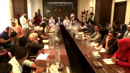 Juventud palestina rechaza la Conferencia de Baréin