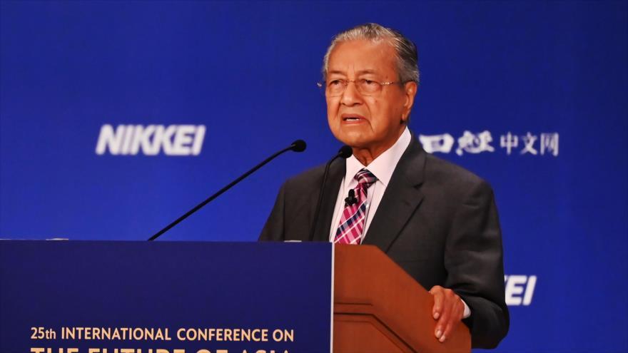 El primer ministro de Malasia, Mahathir Mohamad, en la Conferencia Internacional sobre el Futuro de Asia en Tokio, 30 de mayo de 2019. (Foto: AFP)