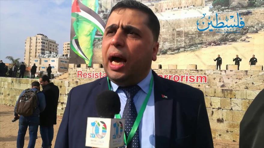 Abdul Latif Al-Qanu, un portavoz del Movimiento de Resistencia Islámica de Palestina (HAMAS).