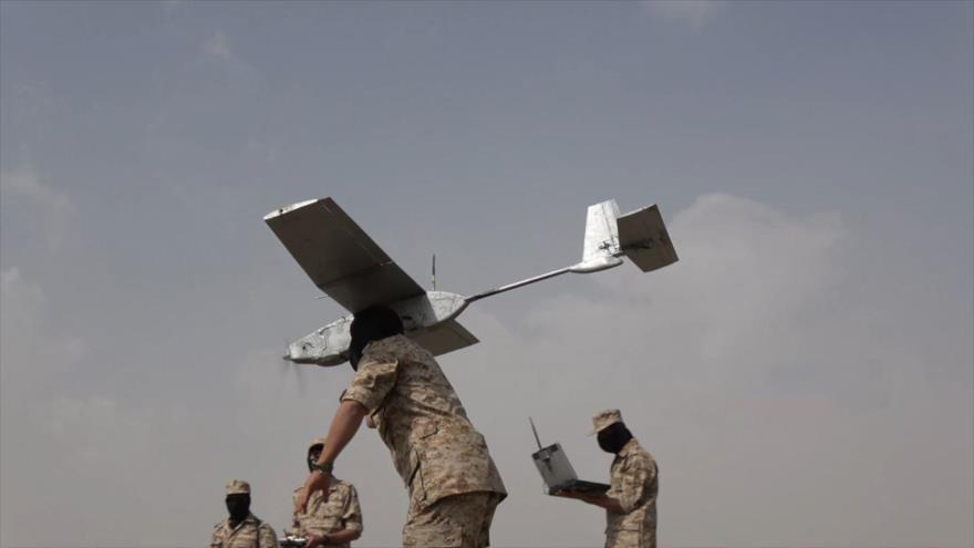 Fuerzas yemeníes utilizan un dron para atacar objetivos saudíes.