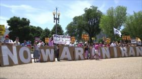 Protesta contra Trump. Acuerdo nuclear iraní. Causa palestina