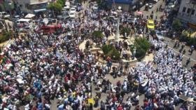 Palestinos protestan contra foro propuesto por EEUU en Baréin