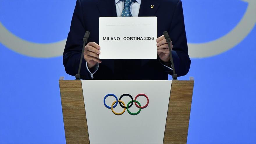 Milán y Cortina, elegidas como sedes de los Juegos Olímpicos de Invierno del 2026, Lausana (suiza), 24 de junio de 2019. (Foto: AFP)