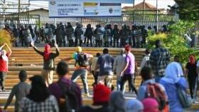 Tres universitarios hondureños heridos en un choque con policías
