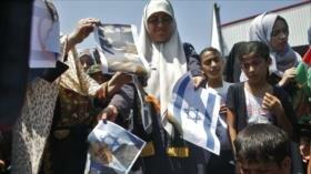 Queman fotos de Trump y Netanyahu en protesta por foro de Baréin
