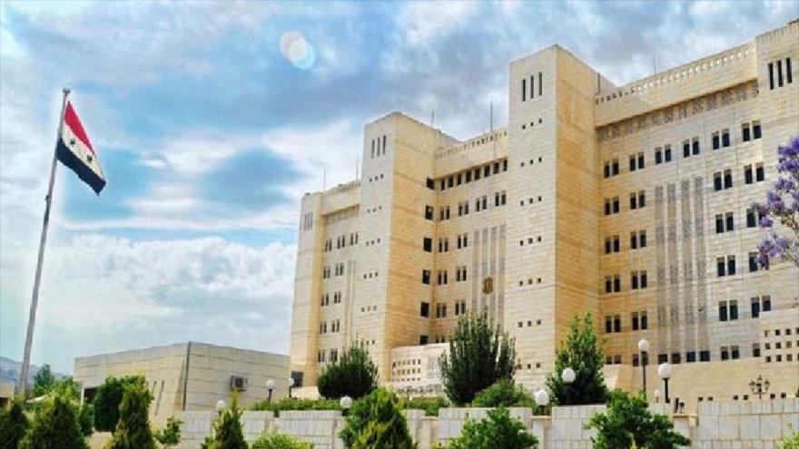 La sede del Ministerio de Asuntos Exteriores de Siria en Damasco, capital.