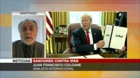 Coloane: Presiones de EEUU a Irán serán una estrategia de desgaste