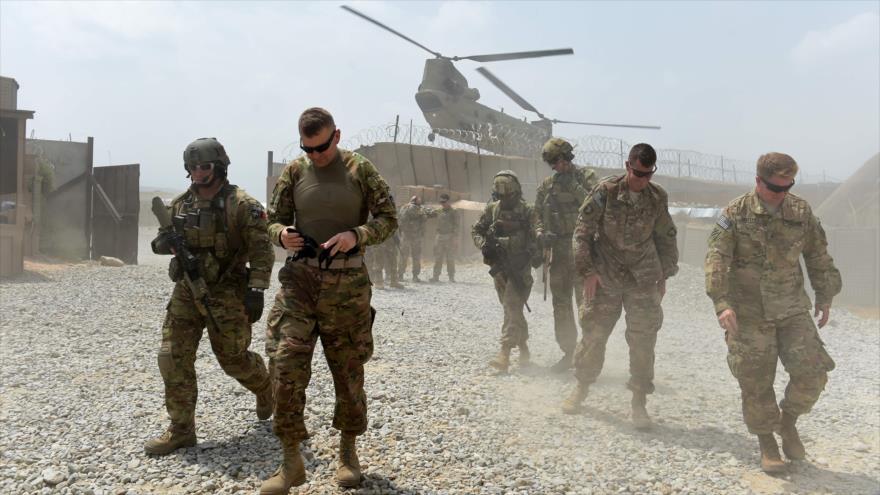Soldados del Ejército de EE.UU. en el distrito de Joguiani en la provincia de Nangarhar, este de Afganitán.