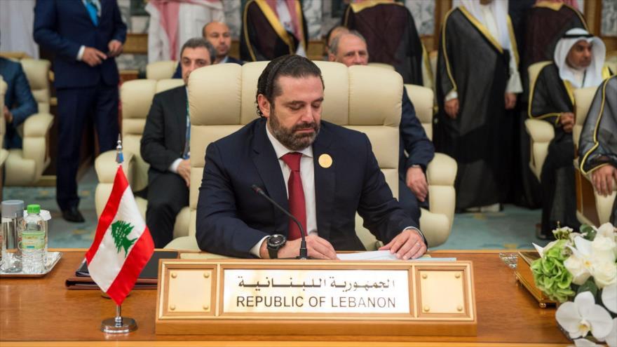 El primer ministro de El Líbano, Saad Hariri, en la ciudad saudí de Meca, 31 de mayo de 2019. (Foto: AFP)