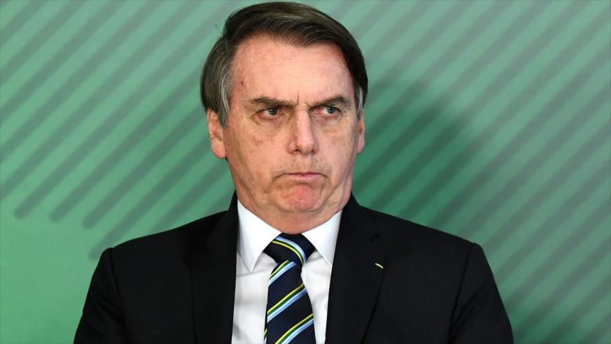 El presidente de Brasil, Jair Bolsonaro, en la ceremonia del nombramiento de su nuevo ministro de Educación, 9 de abril de 2019. (Foto: AFP)