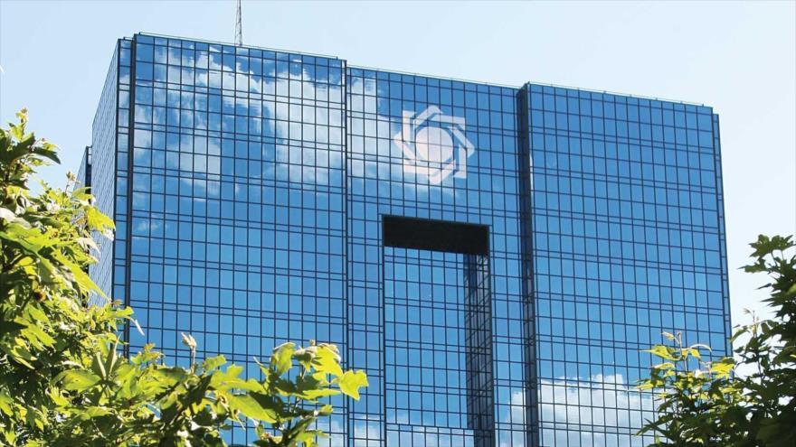 Sede del Banco Central de Irán en Teherán, la capital de Irán.