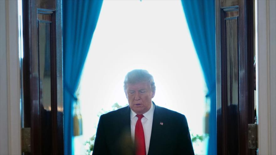 El presidente de EE.UU., Donald Trump, en el Gran Salón de la Casa Blanca en Washington, 24 de junio de 2019. (Foto: AFP)
