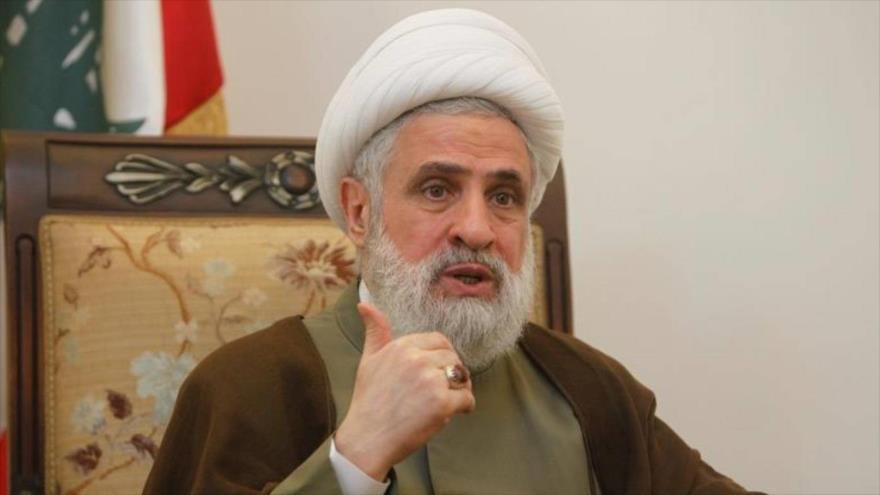 El sheij Naim Qasem, vicesecretario general del Movimiento de Resistencia Islámica de El Líbano (Hezbolá).