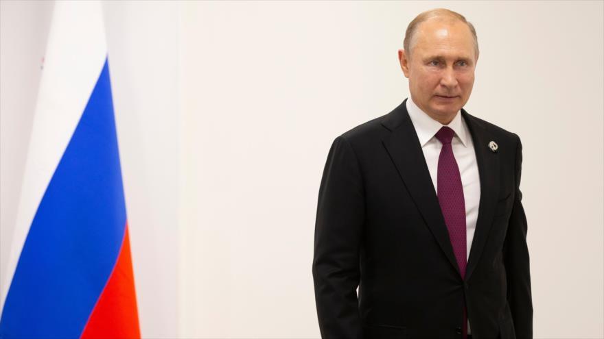 El presidente ruso, Vladímir Putin, al margen de la cumbre de los G20, Osaka (Japón), 28 de junio d 2019. (Foto: AFP)