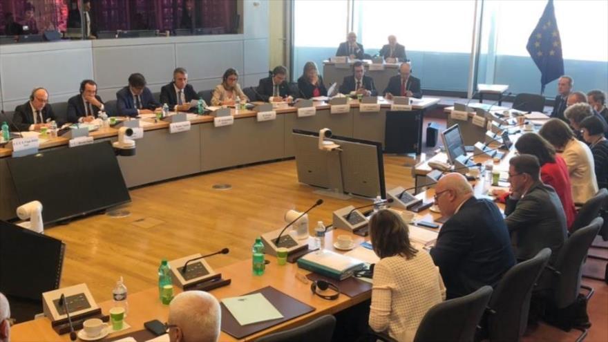 La reunión de los representantes de los Estados miembros del Mercosur y la UE en Bruselas (Bélgica), 28 de junio de 2019.