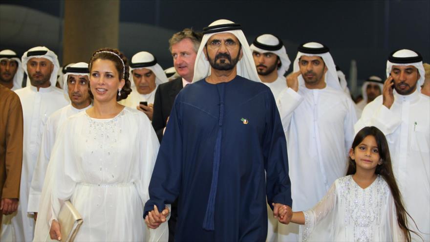 La princesa Haya Al-Hussein y su esposo el sheij Muhamad bin Rashid Al-Maktum, gobernante de Dubái.