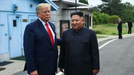 Trump y Kim se reúnen en la zona desmilitarizada de Corea