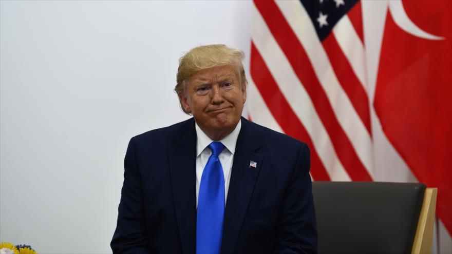 El presidente de EE.UU., Donald Trump, durante la cumbre del G20 en Osaka (Japón), 29 de junio de 2019. (Foto: AFP)