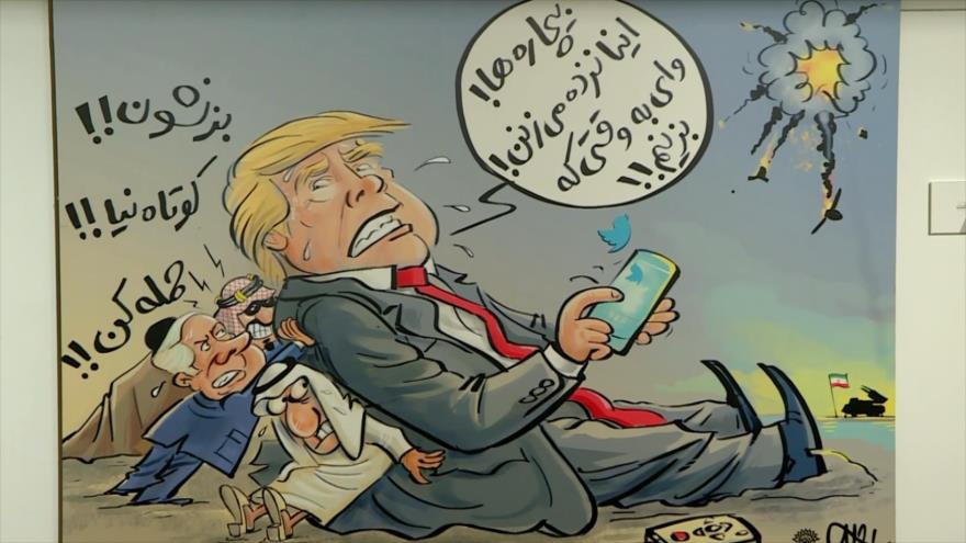 "Irán celebra la exhibición ""Duras bofetadas"""