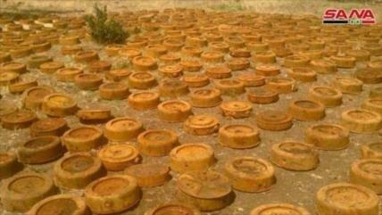 Ejército sirio halla minas estadounidenses en Al-Quneitra