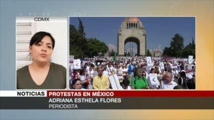 Mexicanos protestan contra AMLO por incumplir sus promesas