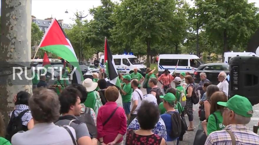 """París inaugura """"plaza de Jerusalén"""" pese a protestas antisraelíes"""