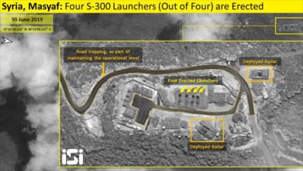 "Imagen satelital muestra S-300 de Siria ""plenamente operativos"""