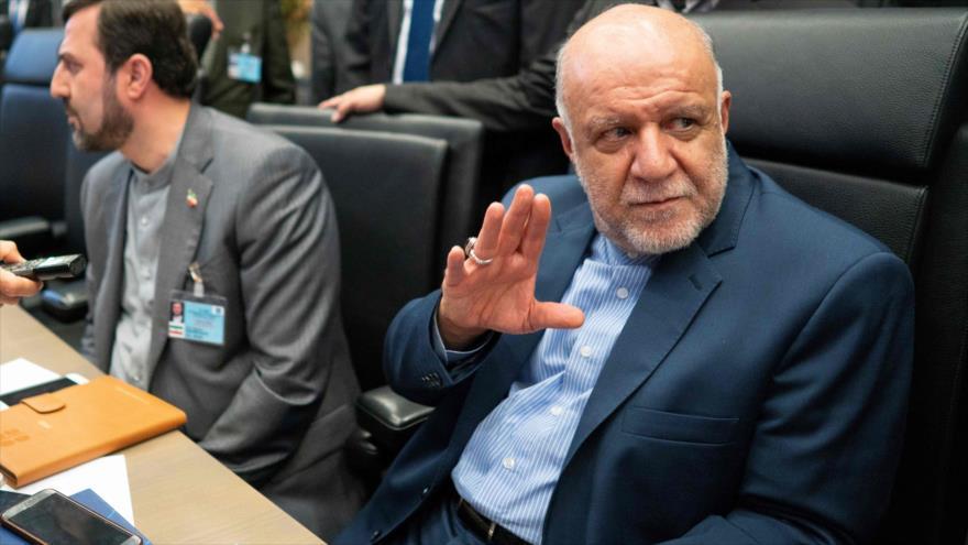 El ministro iraní de Petróleo, Biyan Namdar Zangane, en la 176° reunión de la Conferencia de la OPEP en Viena, 1 de julio de 2019. (Foto: AFP)