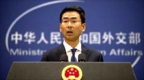 China culpa a EEUU de escalar las tensiones con Irán