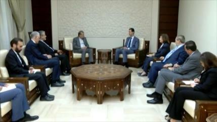 Diplomático iraní se reúne con el presidente sirio en Damasco