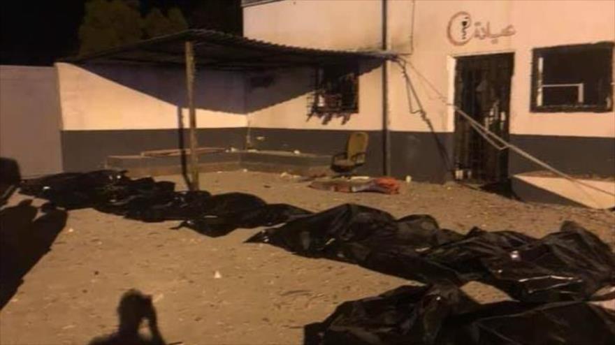 Muertos en el ataque a Trípoli, capital de Libia, de las fuerzas leales al mariscal Jalifa Haftar, 3 de julio de 2019.
