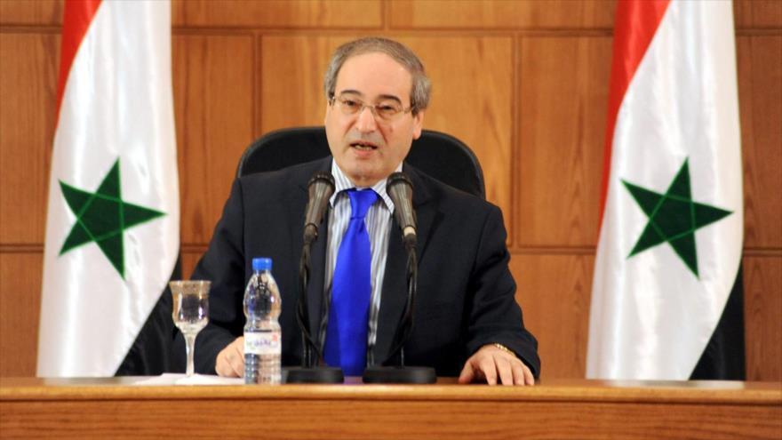 El viceministro de Asuntos Exteriores de Siria,Faisalal-Miqdad.