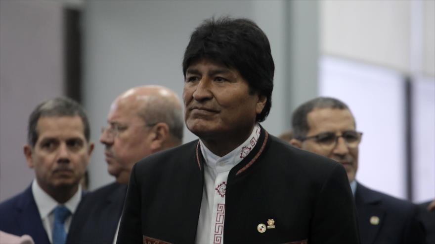 El presidente de Bolivia, Evo Morales, en una ceremonia en Panamá, 1 de julio de 2019. (Foto: AFP)