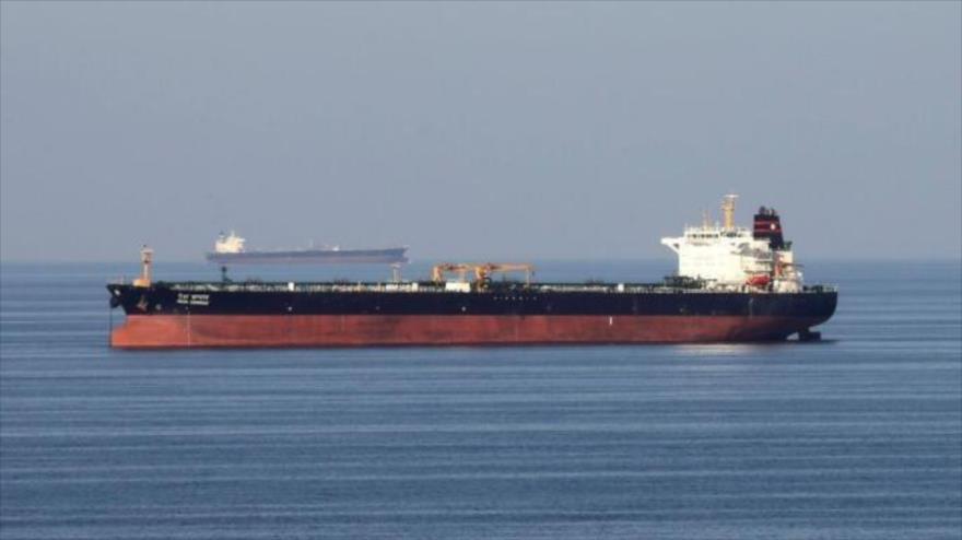 Un buque petrolero en las aguas de Gibraltar.