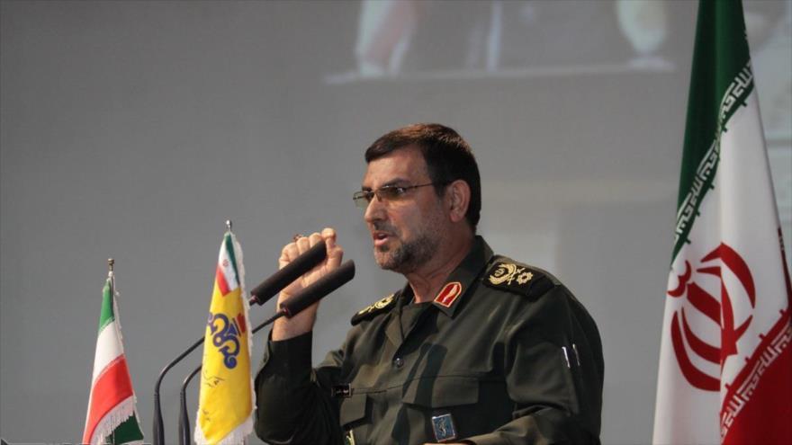 El comandante de la Fuerza Naval del Cuerpo de Guardianes de la Revolución Islámica (CGRI) de Irán, el contralmirante Ali Reza Tangsiri.