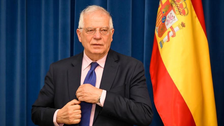El Ministro de Asuntos Exteriores de España, Josep Borrell, en una reunión en Liubliana, Eslovenia. 9 de abril de 2019. (Foto: AFP)