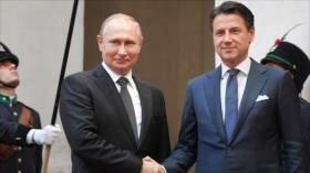 Vladimir Putin en Italia en busca de estrechar lazos