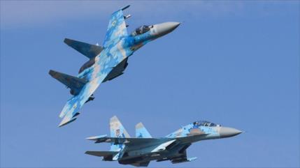 Vídeo: Su-27 ruso intercepta avión espía de EEUU sobre mar Negro