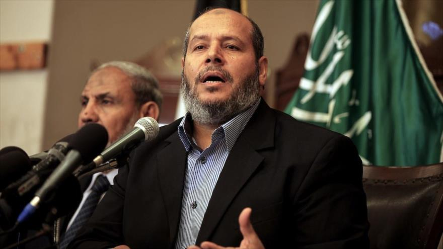 Jalil al-Haya, miembro de la oficina política del Movimiento de Resistencia Islámica de Palestina (HAMAS).