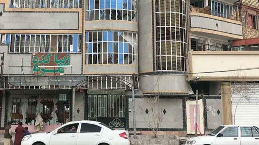 Daños causados por la explosión de una bomba en la ciudad de Zahedan, sureste de Irán, 29 de enero de 2019. (Foto: Mehr)